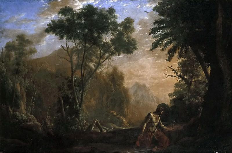 Lorena, Claudio de -- Paisaje con San Onofre. Part 6 Prado Museum