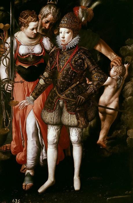 Tiel, Justus -- Alegoría de la educación de Felipe III. Part 6 Prado Museum