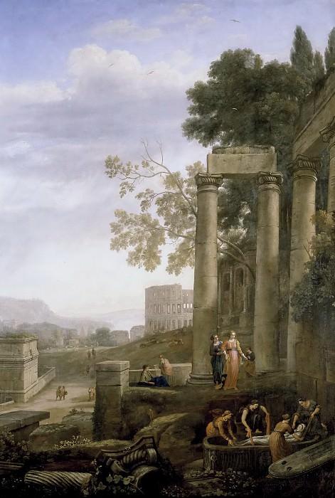 Lorena, Claudio de -- Paisaje con el entierro de Santa Serapia. Part 6 Prado Museum