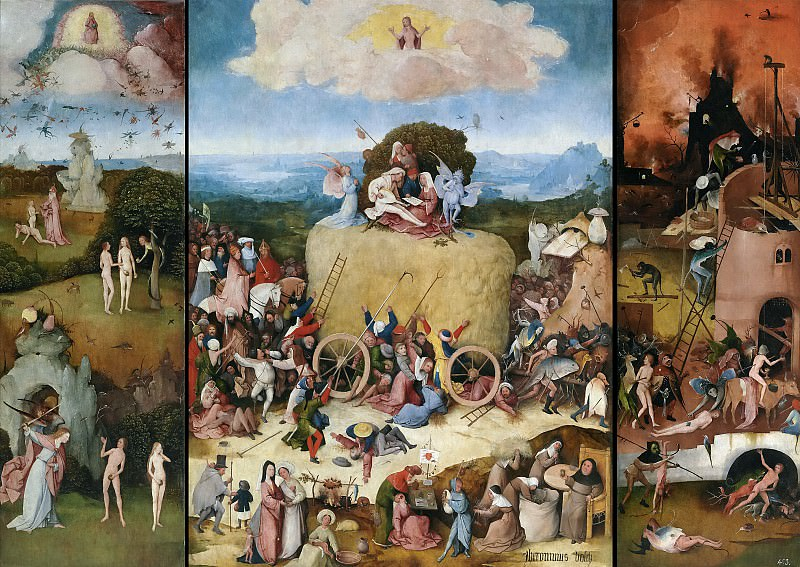El Bosco -- El carro de heno. Part 6 Prado Museum