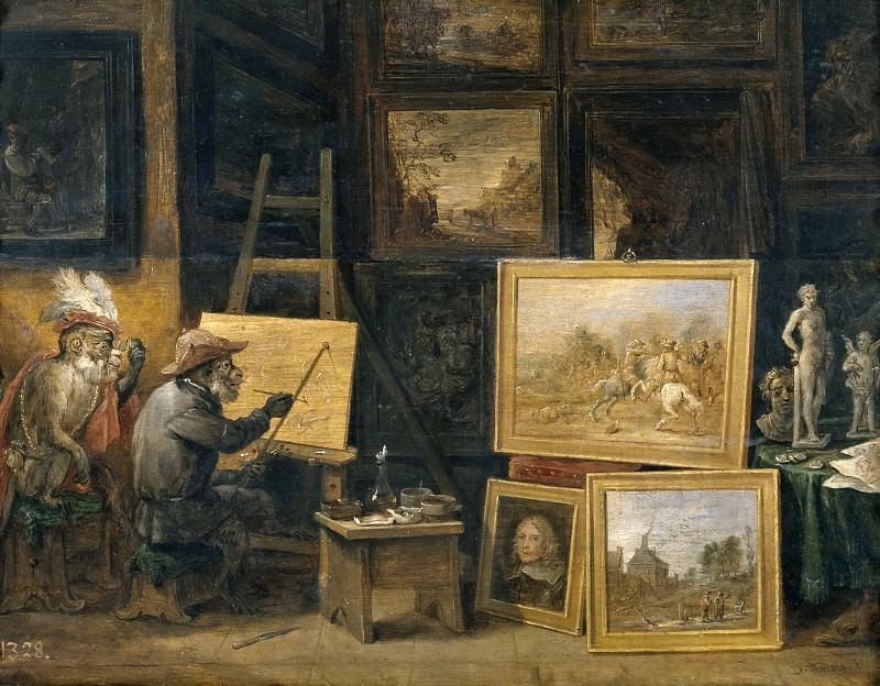 Тенирс, Давид II -- Обезьяна-художник. часть 6 Музей Прадо