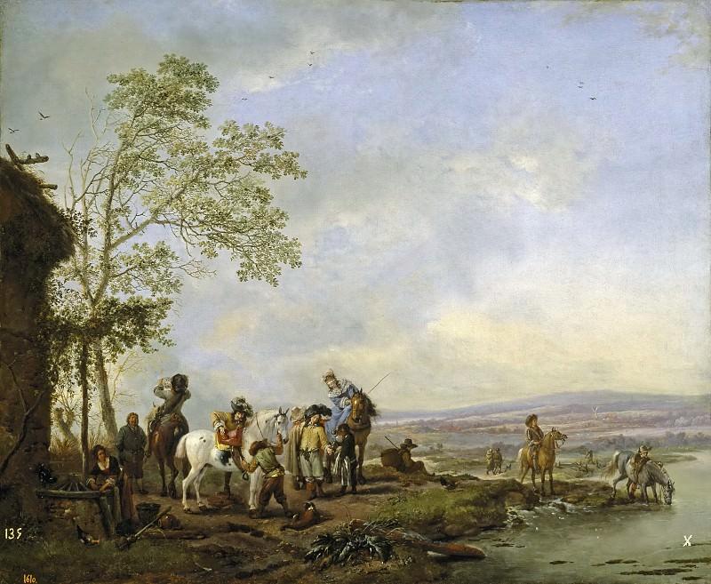 Wouwerman, Philips -- Parada en la venta. Part 6 Prado Museum