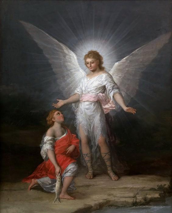 Гойя и Лусиентес, Франсиско де -- Товия и ангел. часть 6 Музей Прадо