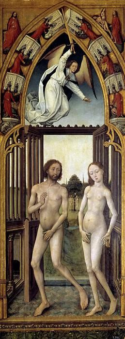 Stockt, Vrancke van der -- Tríptico de la Redención: Adán y Eva expulsados del Paraíso. Part 6 Prado Museum
