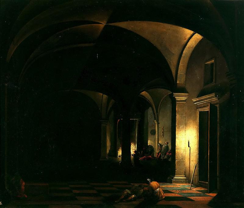 Steenwijck, Hendrick van -- La negación de San Pedro. Part 6 Prado Museum