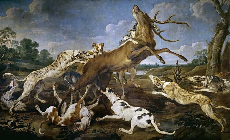 Vos, Paul de -- Ciervo acosado por una jauría de perros. Part 6 Prado Museum