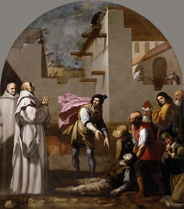 Carducho, Vicente -- El prior Boson resucita a un albañil. Part 6 Prado Museum