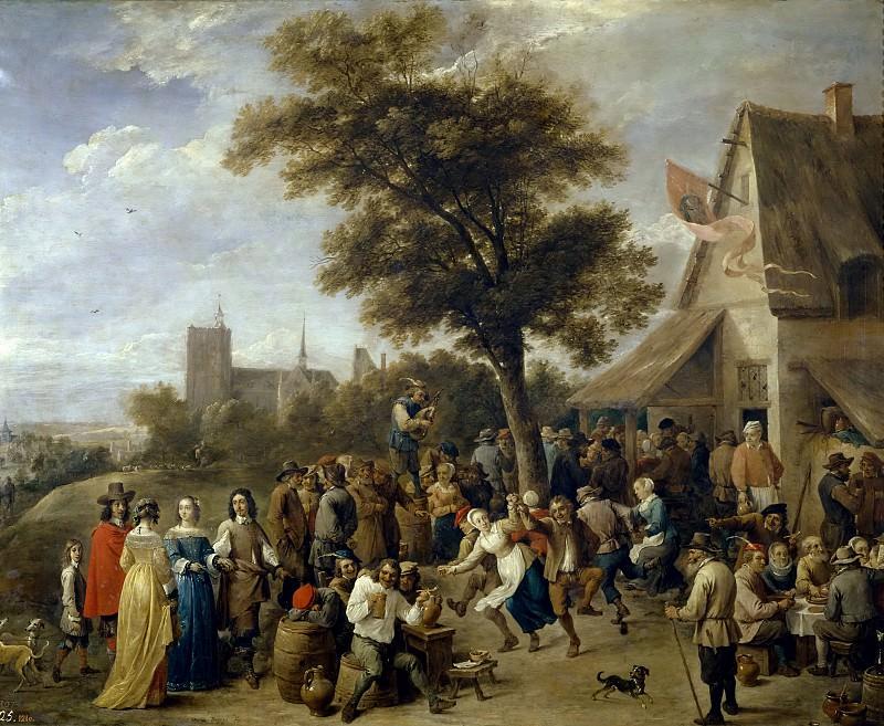 Teniers, David -- Fiesta aldeana. Part 6 Prado Museum