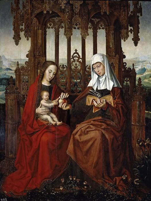 Benson, Ambrosius -- Santa Ana, el Niño Jesús y la Virgen. Part 6 Prado Museum