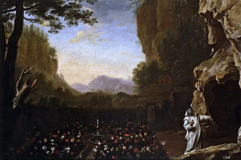 Swanevelt, Herman van -- Paisaje con San Bruno. Part 6 Prado Museum
