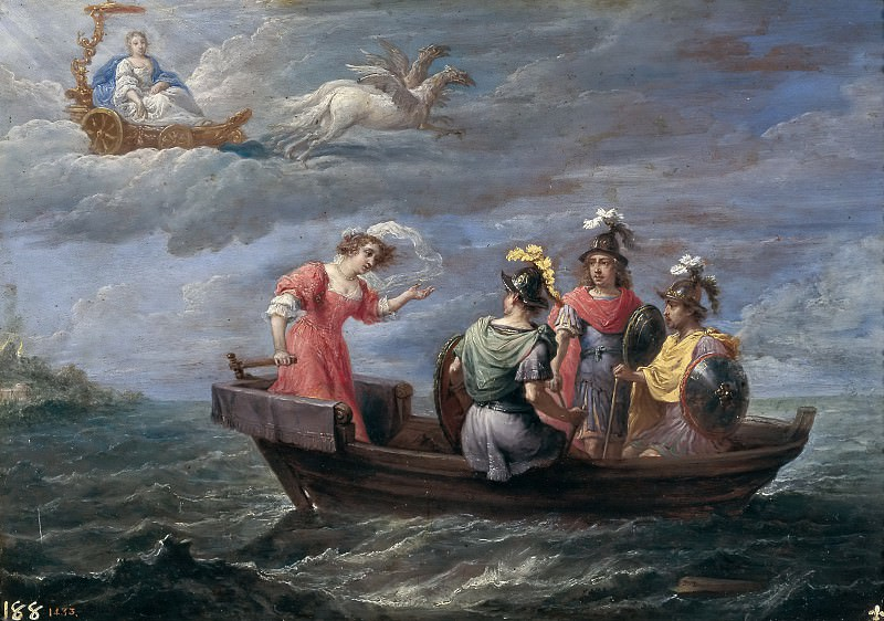 Teniers, David -- Reinaldo huye de las islas Afortunadas. Part 6 Prado Museum