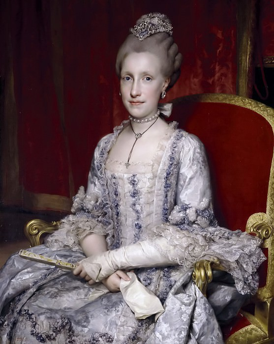 Mengs, Anton Rafael -- María Luisa de Borbón, gran duquesa de Toscana. Part 6 Prado Museum