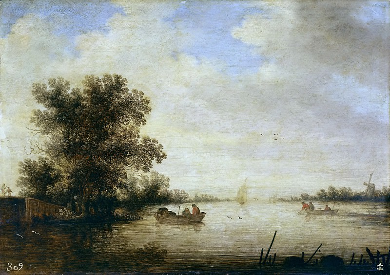 Schoeff, Johan Pietersz. -- Paisaje fluvial. Part 6 Prado Museum