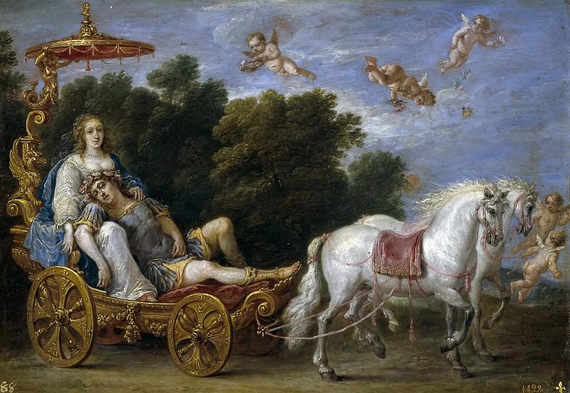 Teniers, David -- Reinaldo llevado en sueños a las islas Afortunadas. Part 6 Prado Museum