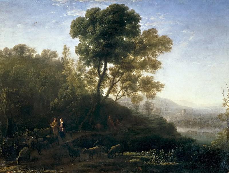 Lorena, Claudio de -- La salida del rebaño. Part 6 Prado Museum