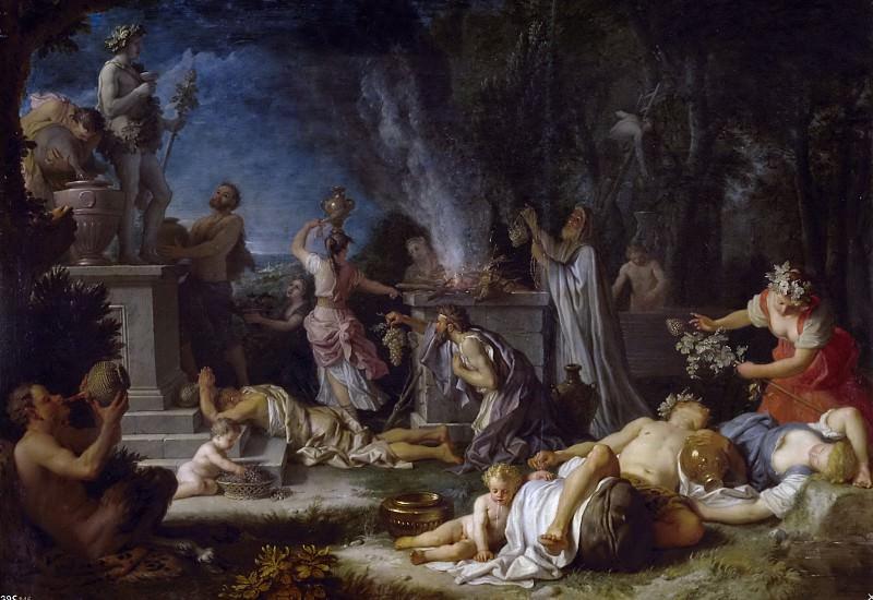 Houasse, Michel-Ange -- Ofrenda a Baco. Part 6 Prado Museum