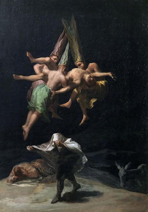 Goya y Lucientes, Francisco de -- Vuelo de brujas. Part 6 Prado Museum
