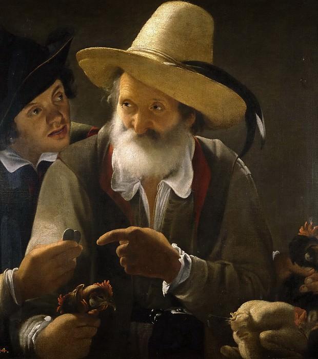 Pensionante de Saraceni -- Vendedor de aves. Part 6 Prado Museum
