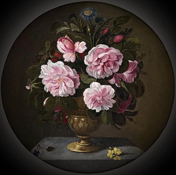 Кампробин, Педро де -- Бронзовая ваза с розами. часть 6 Музей Прадо