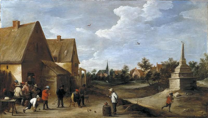 Teniers, David -- Juego de bolos. Part 6 Prado Museum