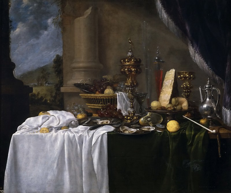 Benedetti, Andries -- Mesa con postres. Part 6 Prado Museum