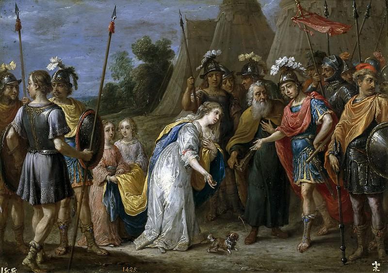 Teniers, David -- Armida ante Godofredo de Bouillon. Part 6 Prado Museum