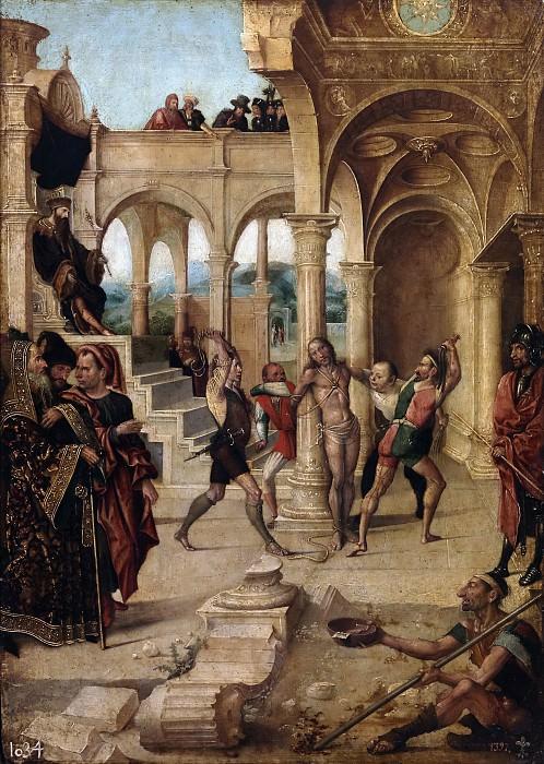 Fernández, Alejo -- La Flagelación. Part 6 Prado Museum
