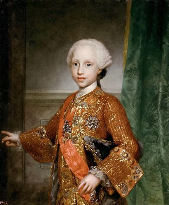 Mengs, Anton Rafael -- Javier de Borbón y Sajonia, infante de España. Part 6 Prado Museum