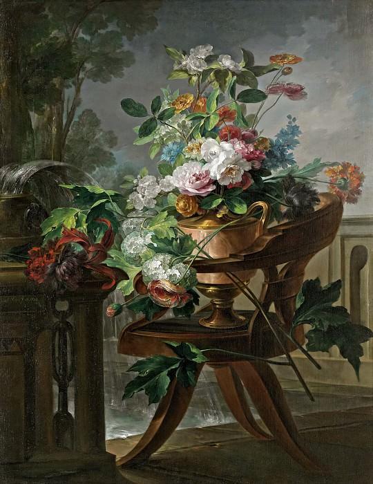 Parra, Miguel -- Florero sobre una silla. Part 6 Prado Museum