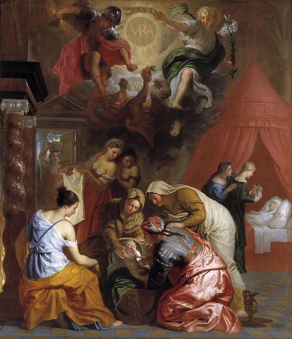 Quellinus, Jan Erasmus -- El Nacimiento de la Virgen. Part 6 Prado Museum