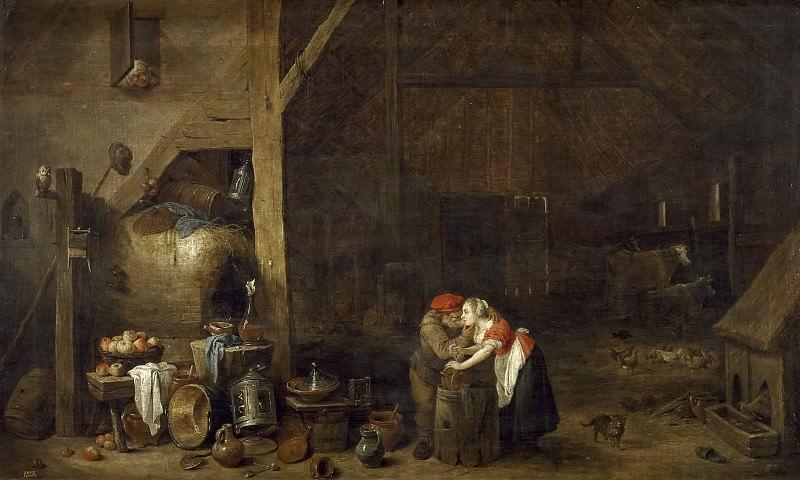 Teniers, David -- El viejo y la criada. Part 6 Prado Museum