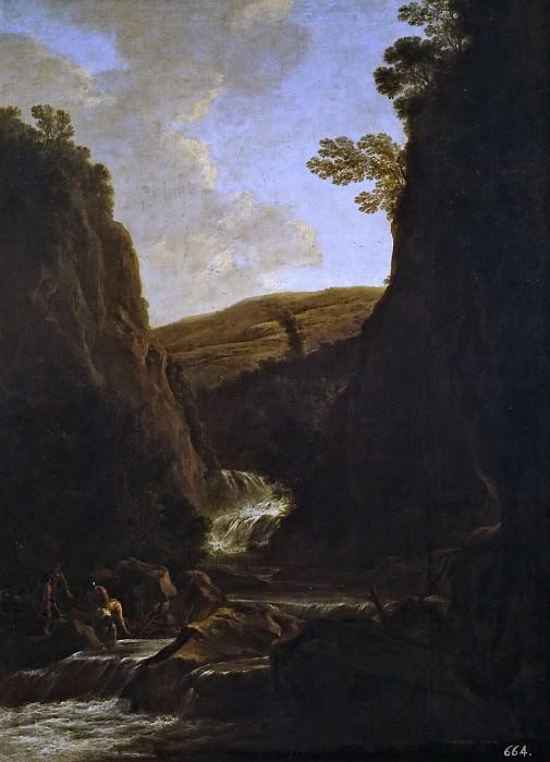 Both, Jan -- Paisaje con pescadores y pastores a la orilla de un río. Part 6 Prado Museum