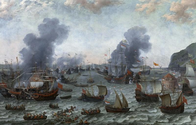 Willaerts, Adam -- La Batalla de Gibraltar, 25 de abril 1607. Part 6 Prado Museum