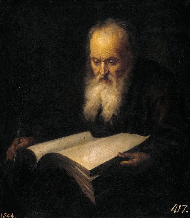 Anónimo (Taller de Dou, Gerard) -- Anciano con un libro. Part 6 Prado Museum