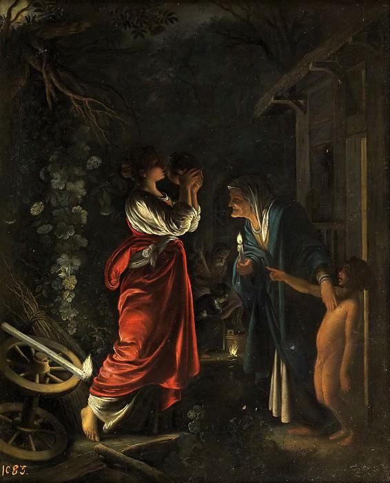 Elsheimer, Adam (y taller) -- Ceres en casa de Hécuba. Part 6 Prado Museum