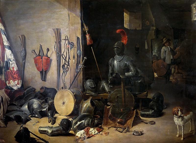 Teniers, Abraham -- Un cuerpo de guardia. Part 6 Prado Museum