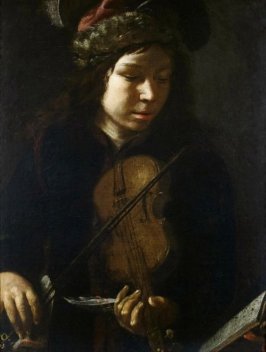Anónimo -- Joven violinista. Part 6 Prado Museum