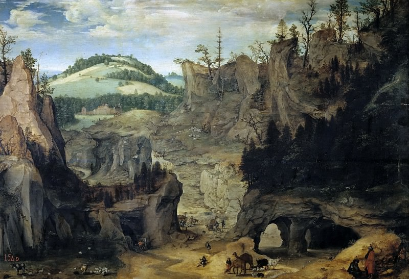 Dalem, Cornelis van -- Paisaje con pastores. Part 6 Prado Museum