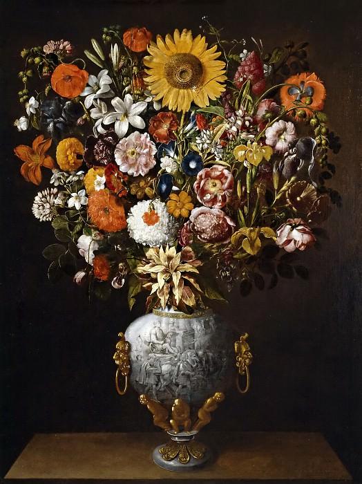 Хиепес, Томас -- Букет цветов в вазе с колесницей. часть 6 Музей Прадо
