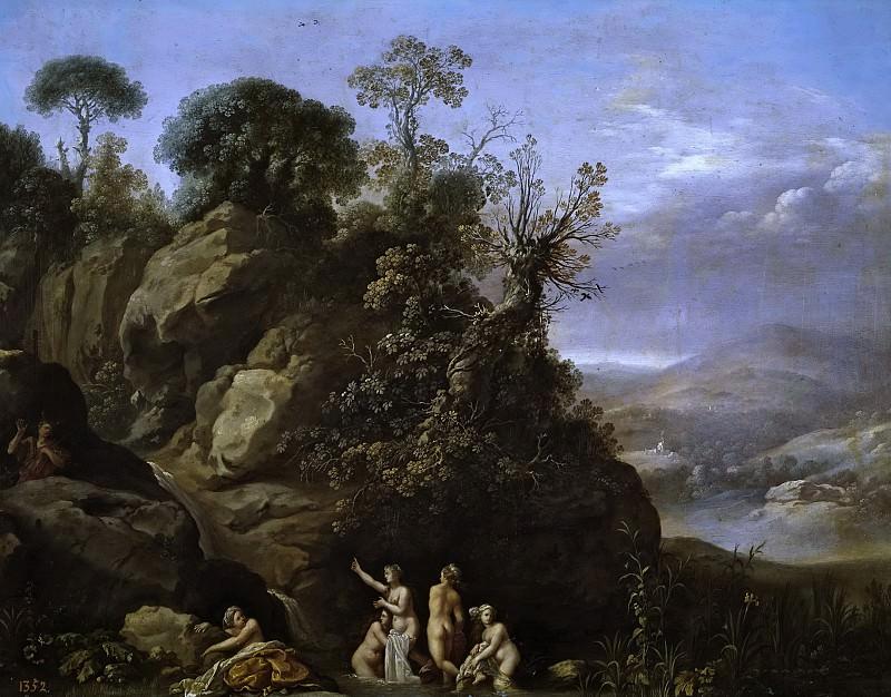 Poelenburch, Cornelis van -- El baño de Diana. Part 6 Prado Museum
