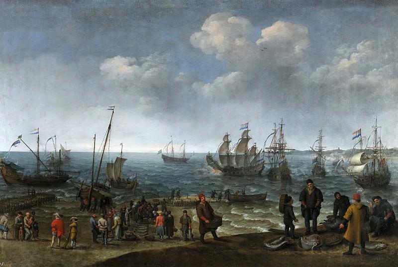 Willaerts, Adam -- Playa con pescadores. Part 6 Prado Museum