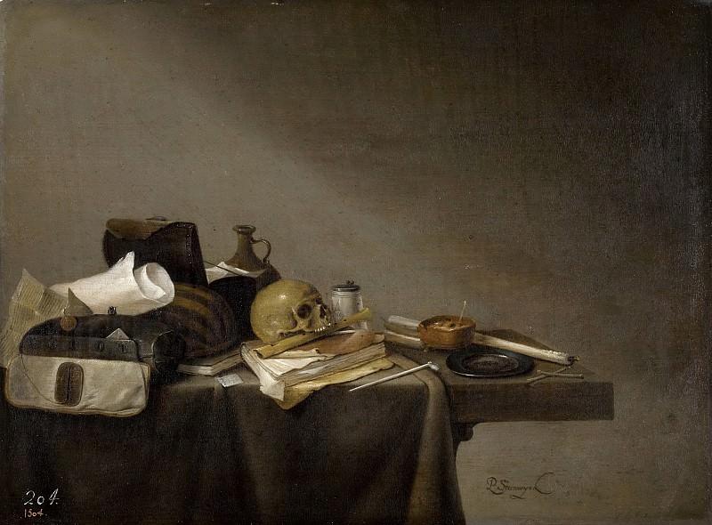 Steenwijck, Pieter -- Emblema de la Muerte. Part 6 Prado Museum