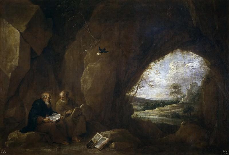 Teniers, David -- San Pablo, primer ermitaño, y San Antonio Abad. Part 6 Prado Museum