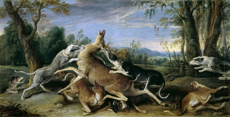 Снейдерс, Франс -- Оленья охота. часть 6 Музей Прадо
