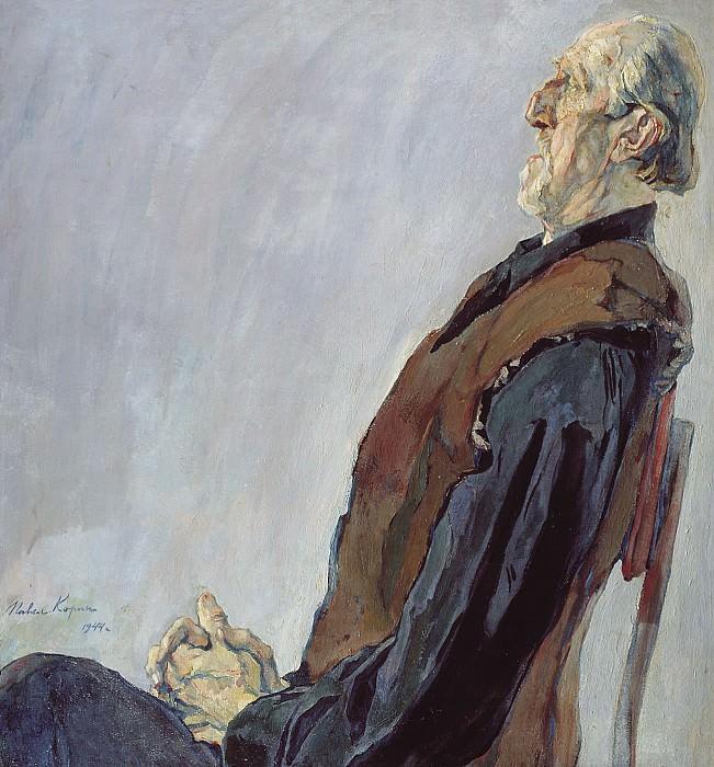 Портрет МК Холмогорова 1944 холст масло 106х100 см. часть 2 - русских и советских худ Русские и советские художники
