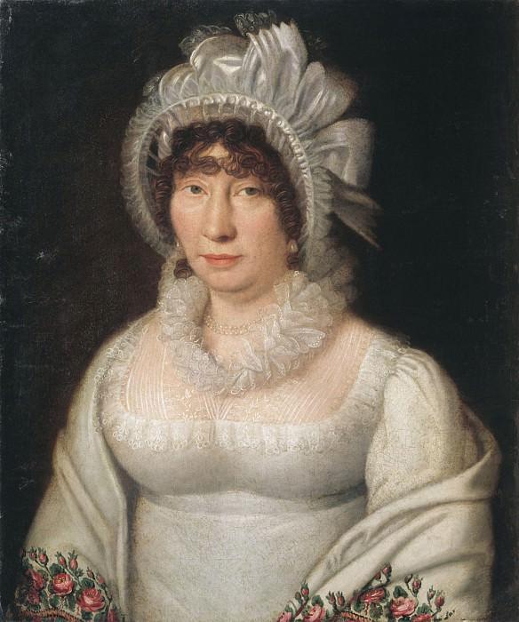 Портрет дамы в белой шали 1810—1820 е. часть 2 - русских и советских худ Русские и советские художники