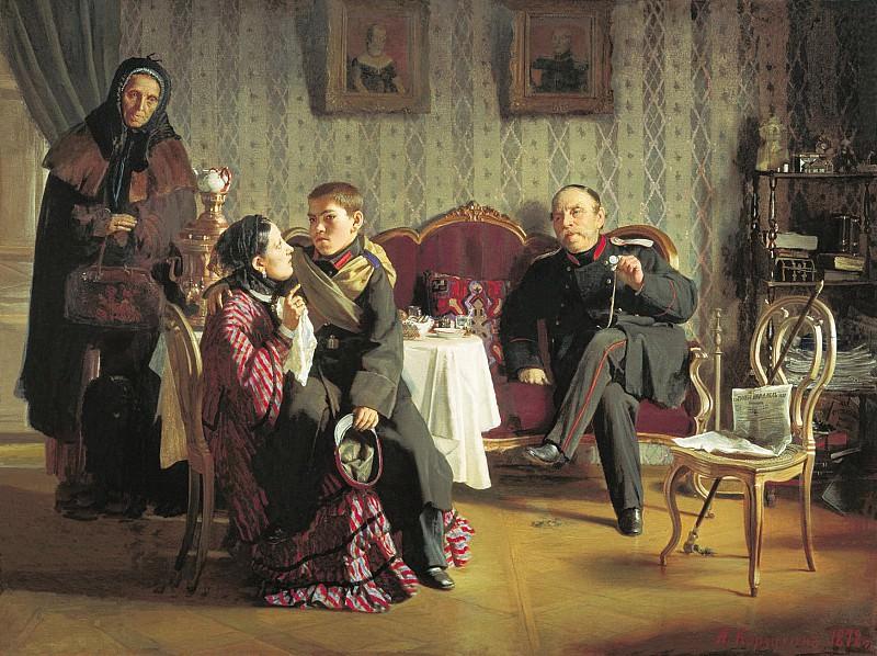 Разлука 1872 Холст масло 59х77 см. часть 2 - Russian and soviet artists Русские и советские художники