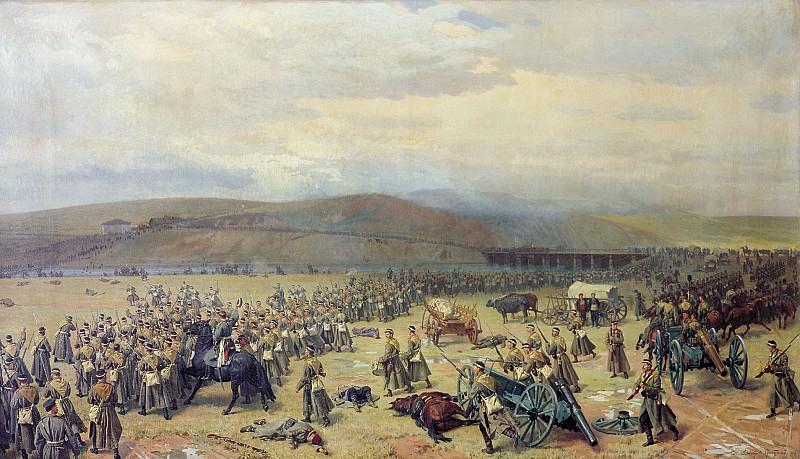 Последний бой под Плевной 28 ноября 1877 года 1889 Холст масло 112х193 см. часть 2 - русских и советских худ Русские и советские художники