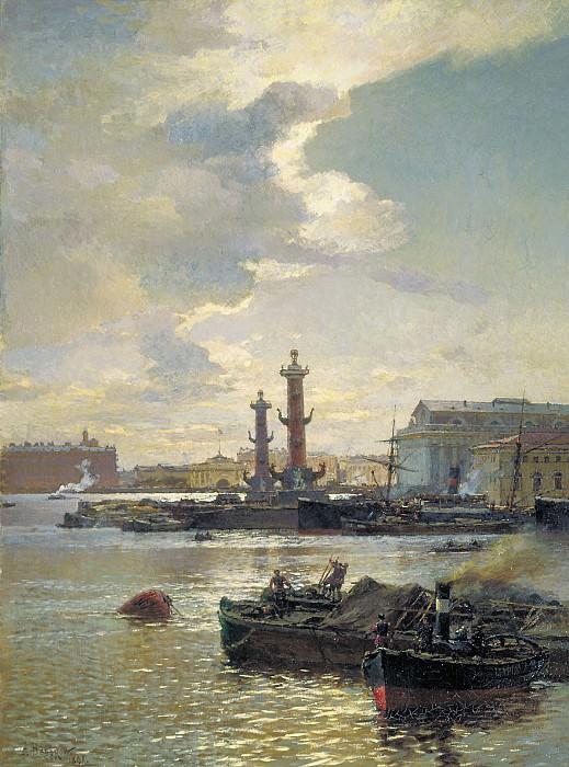 Петербургская биржа 1891 Холст масло. часть 2 - русских и советских худ Русские и советские художники