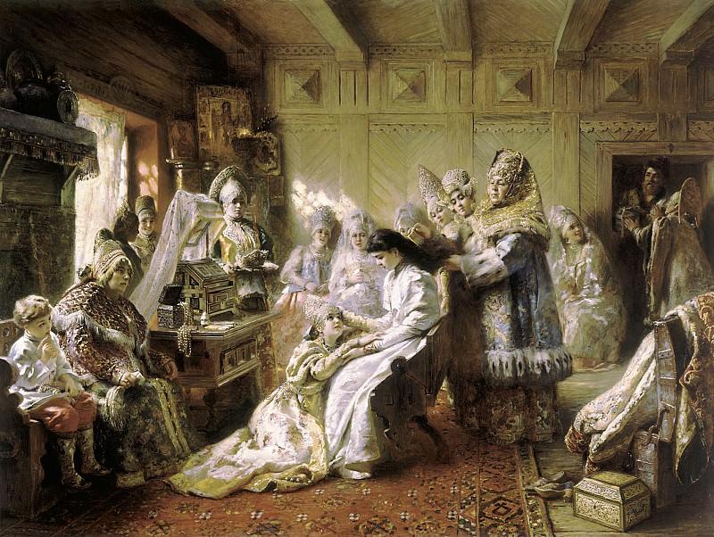 Под венец 1884 холст масло 92х145 см. часть 2 - русских и советских худ Русские и советские художники
